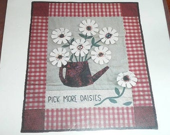 Vintage Pick More Daisies Plum Creek Patchwork Wall Quilt Pattern
