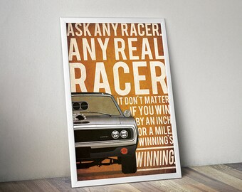 The Fast and The Furious poster fast and furious poster alternative poster Dodge Charger poster car Dominic Toretto Vin Diesel Paul Walker