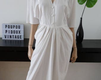 Robe vintage blanche taille 40 / us 8 / uk 12