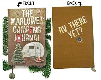 Camping Journal/ RV Journal or scrapbook 3 - great personalized gift!
