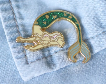 Pine Mermaid / siren badges