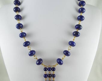 Dana (Lapis Lazuli Roundels + Rounds W/ Gold Plated Wire & Findings)