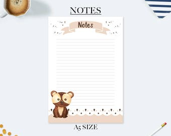 Back to school gifts for kids, student planner, to do list notepad, desk accessories, teacher appreciation gift, a5 planner inserts, bear
