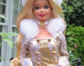 Beautiful 1995 Winter Fantasy Barbie Doll by Mattel EUC