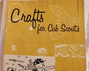 Games For Cub Scouts Crafts For Cub Scouts Workbooks Set of Two Vintage Cub Scout Books