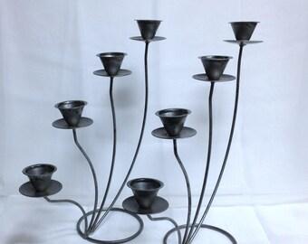 Vintage Metal Candelabras, Metal Candleholders, Tiered Candle Holder Set, Tiered Centrepiece Display Mood Decor Romantic Lighting Effect