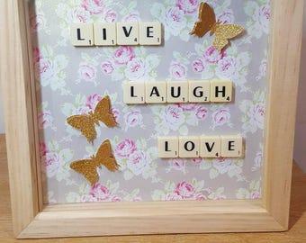 Wooden Scrabble Letter Frame