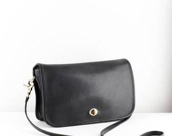 Vintage Coach City Bag | Black Leather Coach Bag
