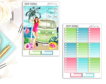 Palm Springs Mural   Summer Planner Sticker Deluxe Kit