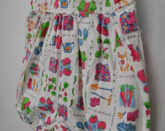 Baby B'gosh overalls onesie // gardening vegetable fruit jeans // 24 months vestbak