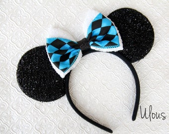 Alice and Wonderland Mickey Ears, Alice and Wonderland Ears, Alice Mickey Ears, Alice Ears, Disney Ears, Alice Minnie Ears, Mickey Ears, Ear