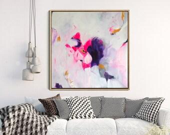 Abstract Art Print, Abstract Giclee Print, Modern Art Abstract, Minimalist Painting, PINK print, Wall Decor, Wall Art