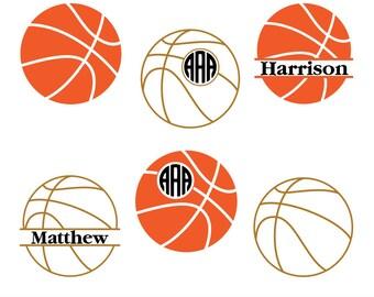 Basketball svg files, Basketball monogram Svg, Basketball Cut Files, Basketball Silhouette, Cricut Files, Sport svg, svg, dxf, eps, png.