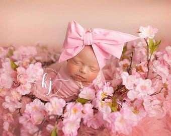 PETAL PINK Gorgeous Wrap- headwrap; fabric head wrap; pink head wrap; boho; newborn headband; baby headband; toddler headband