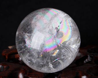 natural rinbow crystal sphere/ rainbow crystal ball#Q72
