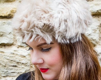 Fluffy vintage winter hat