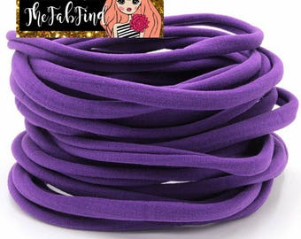 Purple Nylon Headband | One Size fits all Headband | THIN Soft Nylon Headband for baby and adults| Premium Infant & Baby Headbands | BULK