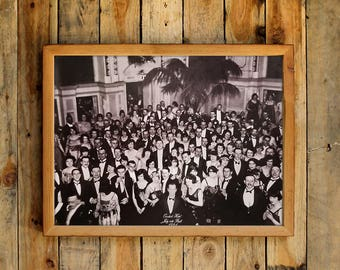 Overlook Hotel July 4th Ball 1921 Photograph Poster Movie Prop Jack Torrance Ballroom Photo Picture Ending Decor Wall Art Print Gift Idea