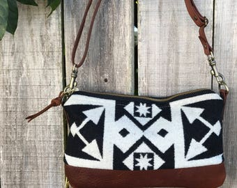 Willamette Crossbody in Pendleton® wool and leather by Meant Mfg.