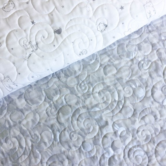 Wholecloth Quilt - Sleep Tight in White - MADE-to-ORDER
