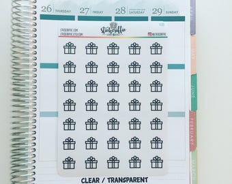 V210  Clear / Transparent Gift / Present Stickers