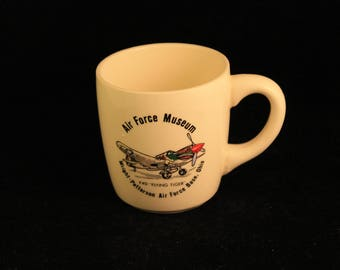 Vintage Wright-Patterson Air Force Base, Ohio Air Force Museum Ceramic Coffee Mug Tea Cup P-40 Flying Tiger Collectible Gift