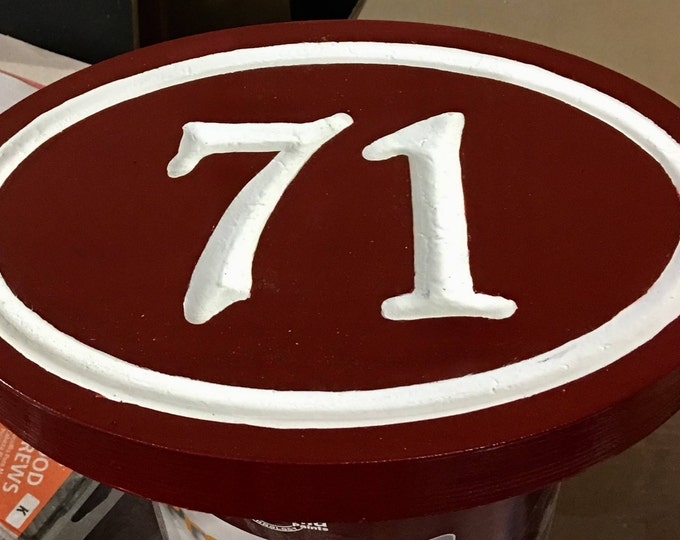 "Handcrafted house number signs 1-2 numbers 9.0"" x 14.5"" x 1"""