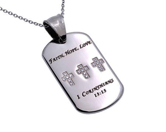 """Calvary Tag """"Faith, Love, Hope"""""""