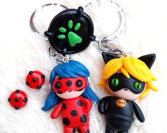 SALE PACK Ladybug and Cat noir and their Miraculous Ladybug Chibi Kawaii