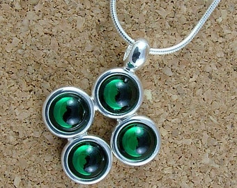 Swarovski Emerald birthstone pendant