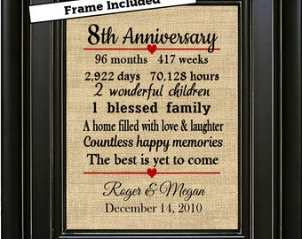 8th anniversary gift | Etsy