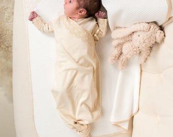 Mia Knot Gown & Bonnet Set