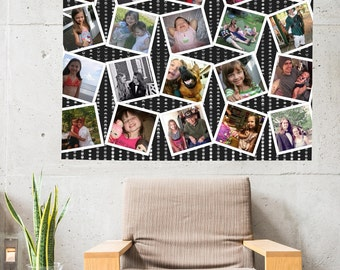 Custom Personalized Photo Tapestry For Your Pictures By Designer Artwork Included 4 ft x 5 ft