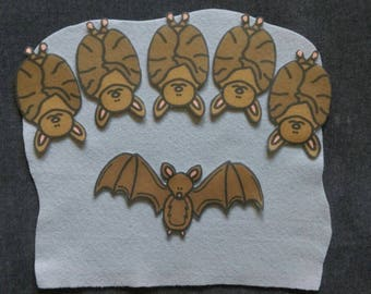 5 Little Bats Felt Board Story #2 // Flannel Board // Pretend Play // Quiet Time //  Storytime