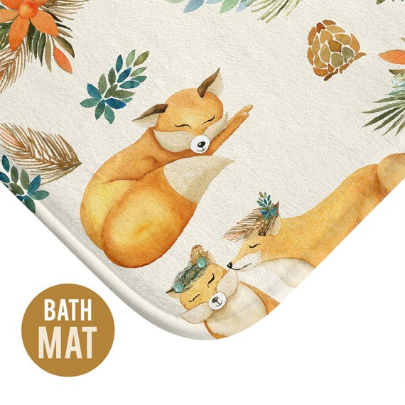 Autumn Fox Bath Mat - Available in Two Sizes