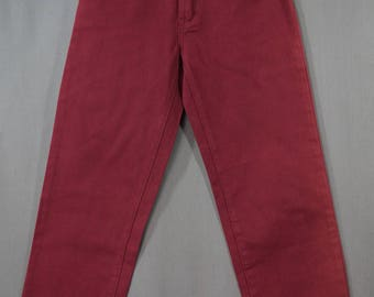 Vintage 90's Fiend Jeans Wine Color New with Tag Size 10 NWT, Grunge