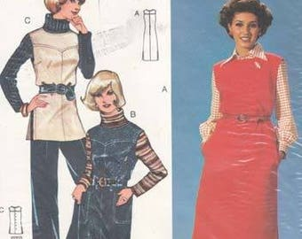 Burda Pants Vest Jumper Sleeveless Dress Sewing Pattern Sizes 42-44-46 Unopened Unused