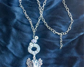 Wire-Wrapped Owl Key Necklace