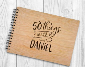 Personalised Birthday / Farewell A4 Wooden Guestbook / Photo book. Wooden book to celebrate 16th / 18th / 21st / 30th / 50th / 60th / 80th