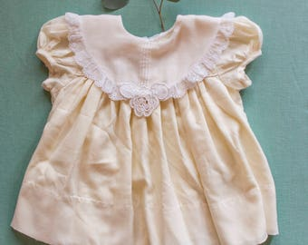 Vintage Baby Dress with Detailed Collar