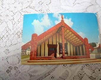 New Zealand Postcard, Vintage New Zealand Souvenir, Ohinemutu Postcard, Maori Postcard, Colorchrome W.T. 949