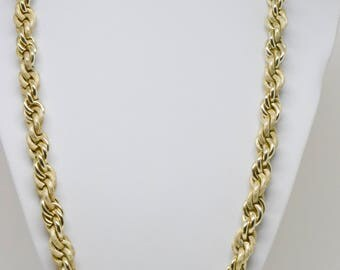 Charming gold tone rope chain necklace - made in Western Germany