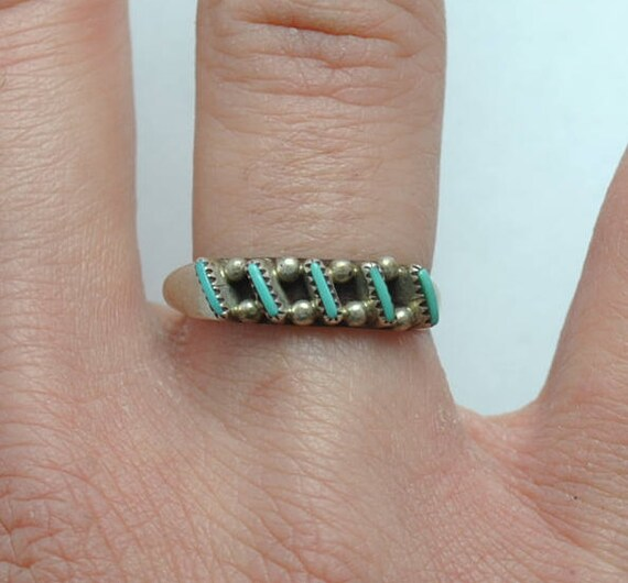 Native american turquoise ring - vintage ring - sterling silver ring - summer jewelry - boho ring