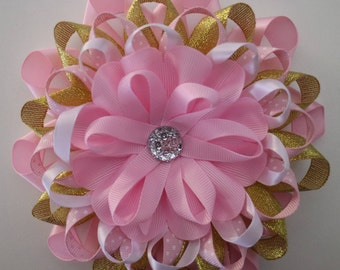 Pretty in Pink & Gold Baby Shower Corsage Set