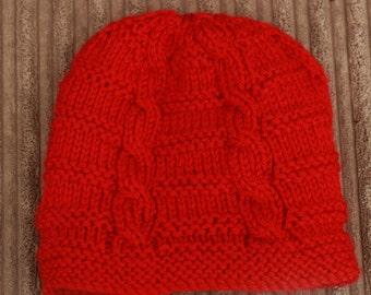 "Instant download ""katie"" knitted ladies  beanie knitting pattern, Beanie, Cap HKP8"