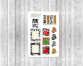 S206 - 15 Animal Print Planner Stickers