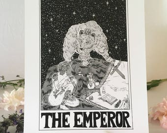 "Tarot Card Print • ""The Emperor"" • by Madison Ross"