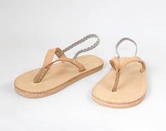 Leather Flip Flops for Children - Kids flipflops sandal - Toddler size - Non-slip - Non-Toxic