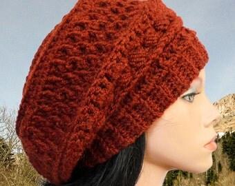 Slouchy beanie Crochet hat patterns, Crochet beanie pattern, Crochet hat Slouchy hat pattern Slouchy beanie crochet pattern Beret pattern