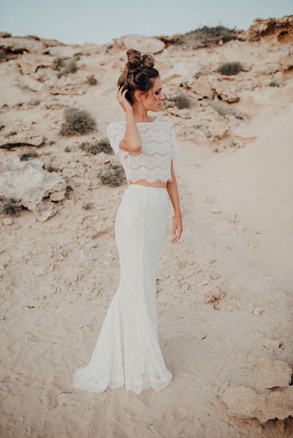 Bridal separates wedding separates two piece wedding dress zoom ombrellifo Gallery